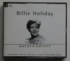 Billie Holiday Golden Greats 3CD Set Jazz Swing