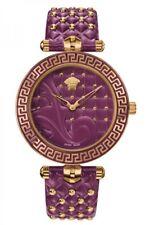 VERSACE Vanitas Purple Dial Leather Strap Ladies Watch VK7120014