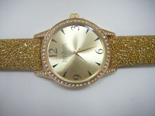 Joan Rivers Classics Collection Women's Gold-Tone Watch with Yellow Bead Strap