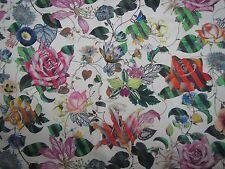 "Designers Guild cortina tela diseño ""Malmaison natural"" 3.3 metros the Las Vegas"