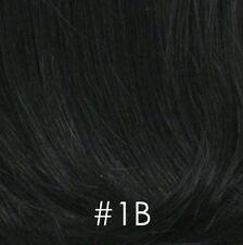 100% Human Hair Short Pixie Slightly Wavy Wig with Bangs Gray Salt/Pepper Women