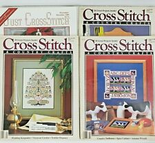 4 Vtg Cross Stitch Magazines: Cross Stitch & Country Crafts & Just Cross Stitch