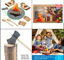 Fisher-Price S'More Fun Campfire 18Piece Pretend Camping Play Set with Real Wood