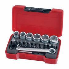 Teng Tools - 19 Piezas Mini Set Toma de Corriente y Poco - 1/4 Drive (