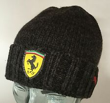 BRAND NEW UNISEX PUMA FERRARI OFFICIAL CAP HAT KNITTED BEANIE GRAY BLACK
