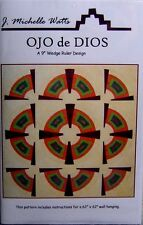 """OJO de DIOS"" Quilt Pattern: 9""Wedge Ruler Design - 62"" x 62"" Wall Hanging"