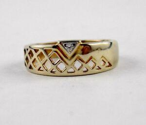 J43 Brillant Ring 585 Gelbgold Brillant 0,02 Carat Durchbruch Design