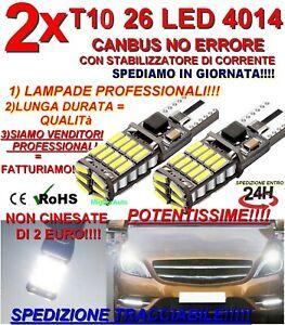 2 LAMPADINE AUTO T10 26 LED 4014 CANBUS NO ERRORE T15 POTENTISSIME POSTA 1 INCL.