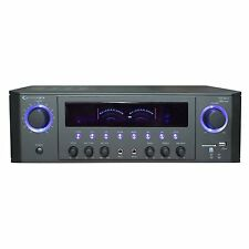 NEW Technical Pro Stereo Receiver Amp Amplifier FM Radio USB/SD AUX 2 Mic Inputs