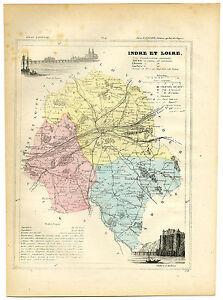 Antique Print-INDRE ET LOIRE-TOURS-CHINON-LOCHES-FRANCE-Brugere-Trousset-1877
