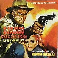 BRUNO NICOLAI - DJANGO SHOOTS FIRST- Spaghetti Western Soundtrack CD