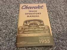 New Listing1955 Chevrolet Truck Operators Manual First Series