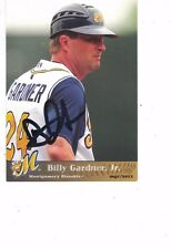 2011 Montgomery Biscuits Billy Gardner Jr Tampa Bay Rays Authentic Autograph COA