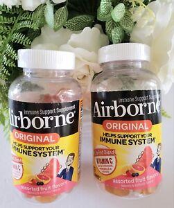 **2 Pack Value** Airborne Assorted Gummies Vitamin C Immune Support Exp 10/2021
