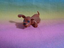 Dollhouse Miniature Brown Plastic Puppy Dog Figure Felt Ears - as is