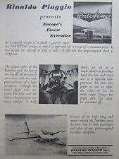 3/1964 PUB RINALDO PIAGGIO AVION PIAGGIO PORTOFINO AIRCRAFT FLUGZEUG ORIGINAL AD