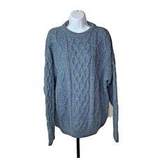 Aran Country Knitwear Ireland Mens Fisherman Sweater Size Large Long Sleeve