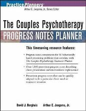 COUPLES PSYCHOTHERAPY PROGRESS NOTES PLANNER (PRACTICEPLANNERS) By Arthur E.