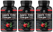 Angry Supplements Apple Cider Vinegar Pills, Weight Loss,100% Natural, 3 Pack