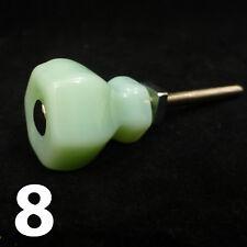 8 Jadeíta Verde Pequeño Cristal Pomos Armario de Cocina Puerta