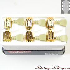 Schaller Original G-Series Tulip DR tuners/machine heads, 3x3 Gold 10140523