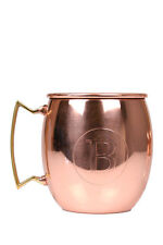 Jodhpuri 20 oz Moscow Mule Mug Initial Letter B Copper Brass Handle Monogram Cup