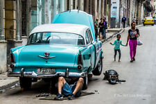 "Neil Reichline Photo, ""Street Car Repair"" Havana Central, Cuba"
