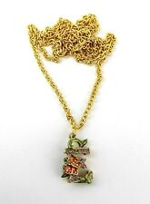 """JAY STRONGWATER CHARMING INITIAL """"E"""" GOLD PLATED CHARM 32"""" NECKLACE NEW NO BOX"""