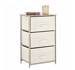 3 Drawer Fabric Dresser Storage Tower Closet Organizer Unit Bedroom Home Office