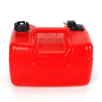 3.2 Gallon Portable Boat Fuel Tank Low Profile Red Outboard Motor Gas Tank 12L