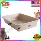 Large Cat Litter Box Furniture Open Top Entry Liter Tray Caja De Arena Para Gato
