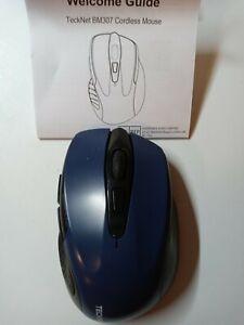 Tecknet Bluetooth Cordless Mouse  6 Button 800-2600 Adjustable DPI Blue/Black