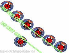 """SWORDS OF FURY  """"DELUXE"""" PINBALL TARGET ARMOUR CUSHIONED DECALS"""