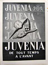 MONTRE SUISSE JUVENIA PUBLICITE N&B 1948 32x23 PARFUM du visage Maud & Nano