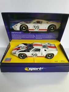 SCALEXTRIC FORD GT40 LE MANS 1966 No 59 C2578A, NEW