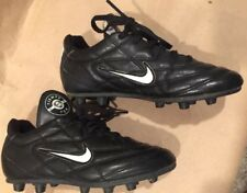 ⚽� Nike Tiempo 750 Soccer Shoes Firm Ground Cleats Youth Size 1 Black/white