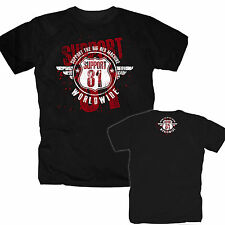 Hells Angels Support 81 AC/AB World Eightyone Big Red Machine Harley 666 S-XXXL
