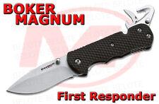 Boker Magnum First Responder Folding Knife w/ Strap Cutter Glass Breaker 01SC157