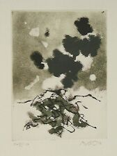 ARDON MORDECAI Landscape with Clouds Original S&N ETCHING Israeli ABSTRACT art