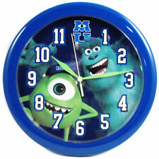 "DISNEY Monsters University Mike & Sulley 10"" Wall Clock Blue NEW"