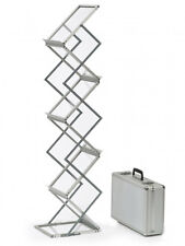 A5 Zed Up Lite Portable Literature Stand / Folding Brochure Rack for Exhibitions