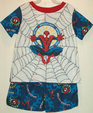 NWT Spiderman Summer Pajamas Set Size 24M Spider-Man