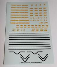 N Scale Model Train, Florida Midland, Central, Northern, Lot of 10 - Decals