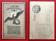 Patriotika Militär AK KAMENZ 1. WK 1915 13. Kgl. Sächs. Inf. Reg. Nr. 178( 11427
