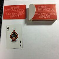 Vintage Braniff International Airlines Orange Playing Cards