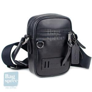 Coach Terrain Crossbody Black Leather Bag F72963 QB/BK