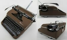 vintage typewriter 1955 OLYMPIA DE LUXE vintage CASE brown BEAUTIFUL & WORKS!