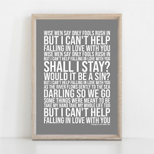 More details for ub40 ( i can't help ) falling in love with you song lyrics poster print wall art