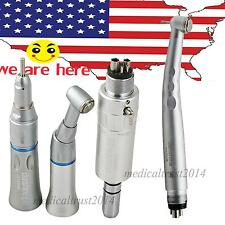 4 hole push low speed kit + 1X high speed dental handpiece fit for NSK turbine
