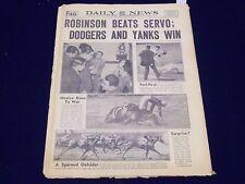 1942 MAY 29 NEW YORK DAILY NEWS - ROBINSON BEATS SERVO - NP 1897